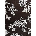 Alliyah Handmade New Zeeland Blend Brown Floral Rug (5' x 8')