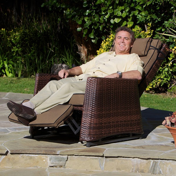 Christopher Knight Home Brown Wicker Outdoor Recliner