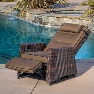 Christopher Knight Home Brown Wicker Outdoor Recliner Rocking Chair