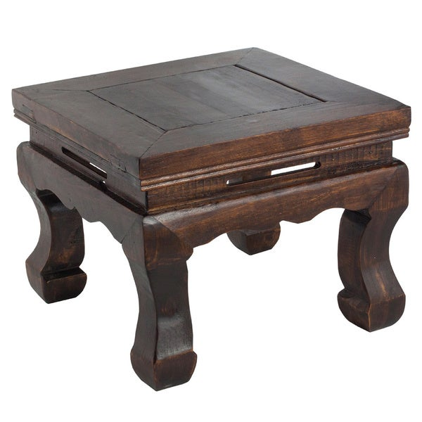 Dark Wood Chinese Style Stool 13534439 Overstock Com