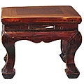 Dark Wood Chinese-style Stool