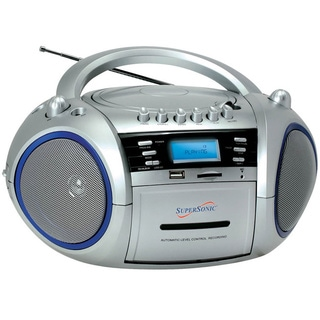 Supersonic Portable MP3/CD Cassette Recorder with AM/FM Radio