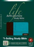 Life Application Study Bible: New Living Translation, Dark Brown/Teal, Tutone Leatherlike, Personal Size (Paperback)