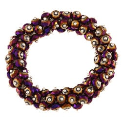 La Preciosa Hanging Purple Rainbow Crystal Stretch Bracelet