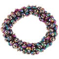 La Preciosa Hanging Green/ Purple Crystal Stretch Bracelet