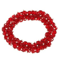 La Preciosa Hanging Red Crystal Stretch Bracelet