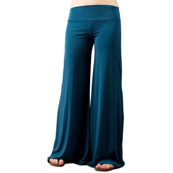 Tabeez Women's Wide Leg Jersey Pants
