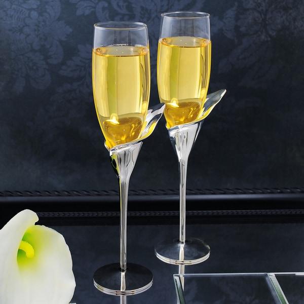 Calla Lily Champagne Flutes (Set of 2)