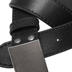 Boston Traveler Men's Topstiched Leather Belt