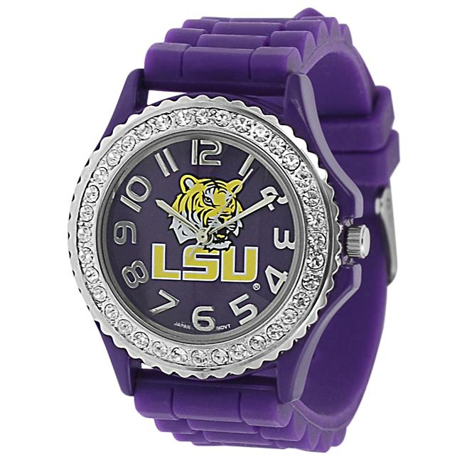 Geneva Platinum Women's Rhinestone Louisiana State University Watch