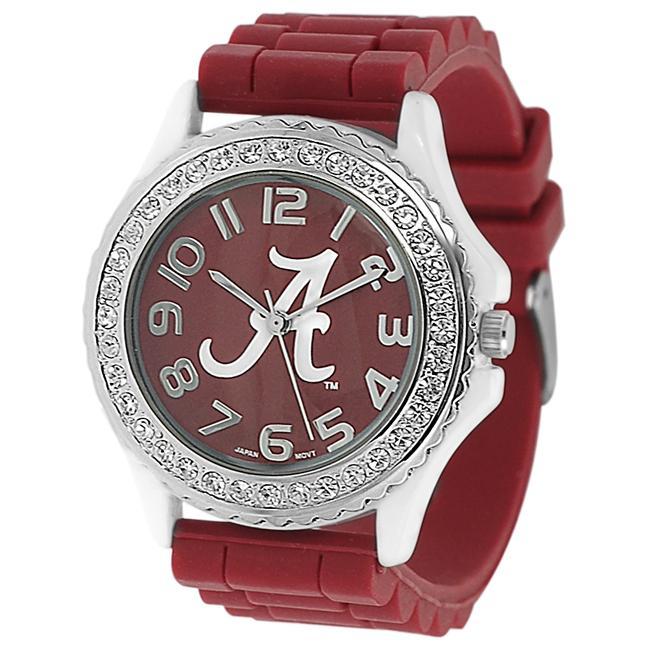 Geneva Platinum Women's Rhinestone University of Alabama Watch