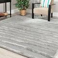 Safavieh Handmade Soho Stripes Grey New Zealand Wool Rug (3'6 x 5'6')