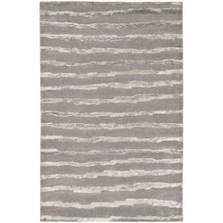 Handmade Soho Stripes Grey New Zealand Wool Rug (8'3 x 11')