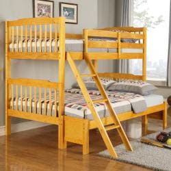 Simone Honey Pine Twin/ Full Bunk Bed