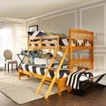 TRIBECCA HOME Simone Honey Pine Twin/ Full Bunk Bed