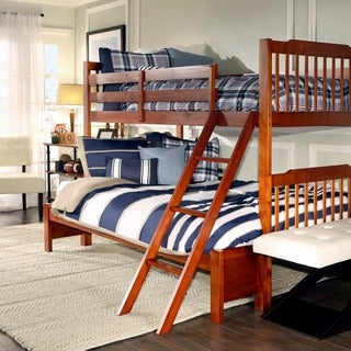 TRIBECCA HOME Simone Mahogany Twin/ Full Bunk Bed