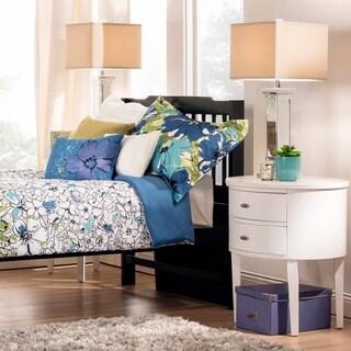 TRIBECCA HOME Simone Black Twin-Size Slatted Headboard Bed