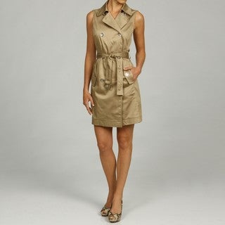 MICHAEL Michael Kors Women's Double Breasted Trench Dress