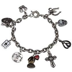 Sweet Romance Lucky Amulet Gothic Silver Charm Bracelet