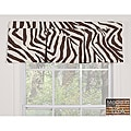 Brown Zebra Cotton Pleated Window Valance