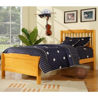 TRIBECCA HOME Simone Honey Pine Twin Captain Bed