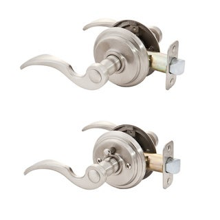 Sure-Loc Solid Door Lever Passage/Privacy Set (Satin Nickel)