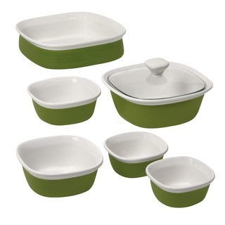 CorningWare Etch Grass 7-piece Bakeware Set