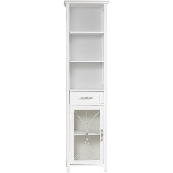 Veranda Bay White Linen Tower by Elegant Home Fashions