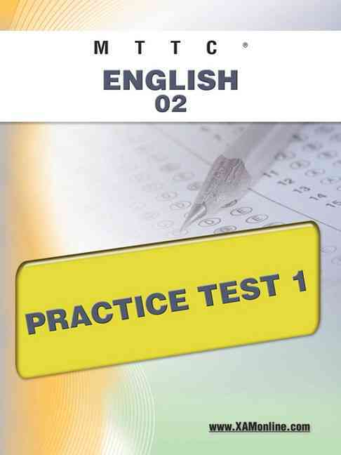 Mttc English 02 Practice Test 1 (Paperback)
