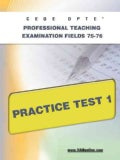 Ceoe Opte Oklahoma Professional Teaching Examination Fields 75-76 Practice Test 1 (Paperback)