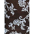 Alliyah Handmade New Zeeland Blend Brown Floral Wool Rug(8' x 10')