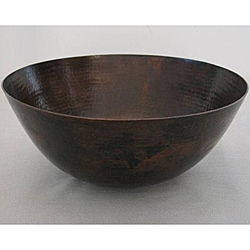 Oil Rubbed Bronze 16-inch 15-gauge Copper Vessel Bathroom Sink