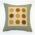 Corona Decor French Woven Jaquard Dots Decorative Pillow