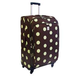 Jenni Chan Dots Green and Brown 360 Quattro 28-inch Spinner Upright