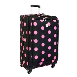 Jenni Chan Dots Black and Pink 360 Quattro 28-inch Spinner Upright