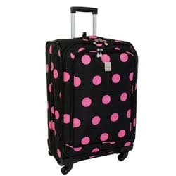 Jenni Chan Dots Black and Pink 360 Quattro 25-inch Spinner Upright
