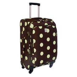 Jenni Chan Dots Green and Brown 360 Quattro 25-inch Spinner Upright