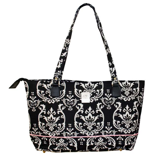 Jenni Chan Damask Compartmented Laptop Tote with Velcro Lock