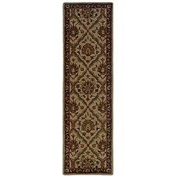 Hand-tufted Beige Wool Area Rug (2'3 x 8)