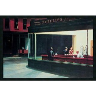 Edward Hopper 'Nighthawks' Framed Art