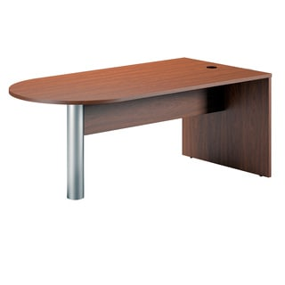 Mayline Cherry Finished Peninsula Office Desk (72 x 36)