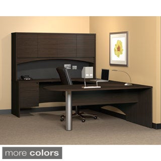 Mayline Mocha Finished Peninsula Office Desk (72 x 36)