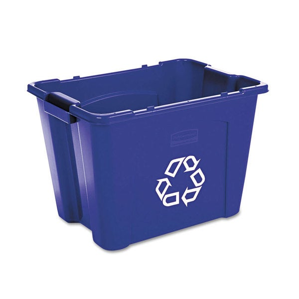 Rubbermaid Commercial Stacking Recycle Bin-