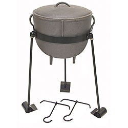 Bayou Classic 4-gal Stew Pot with Lid and TJ Hooks