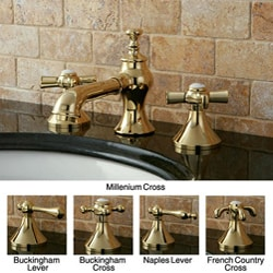 French Country Widespread Polished Brass Bathroom Faucet