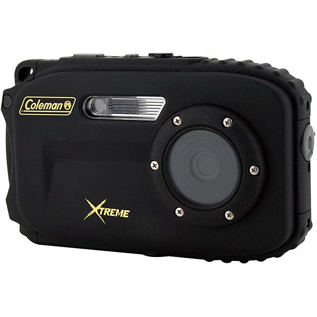 Coleman Xtreme C5WP-BK 12MP Waterproof Black Digital Camera
