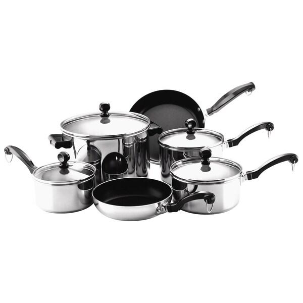 Farberware Classic 10-piece Cookware Set - 13548673 - Overstock.com ...