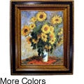 Monet Sunflowers Framed Canvas