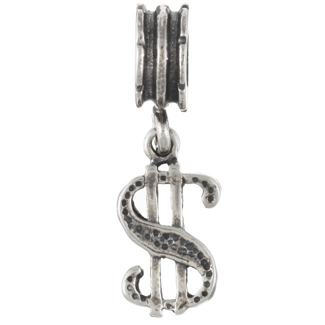 Sterling Essentials Sterling Silver Dollar Sign Dangle Charm
