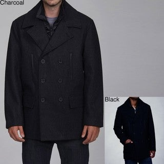 Buffalo by David Bitton Men's Wool Blend Double-breasted Peacoat